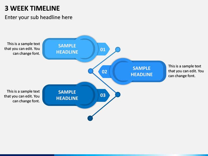 3 Week Timeline PPT Slide 1