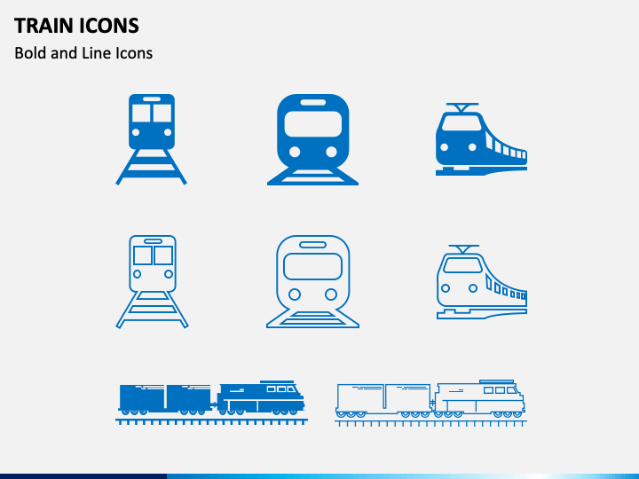 Train Icons PPT Slide 1