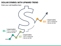 Dollar Symbol With Upward Trend PPT Slide 2