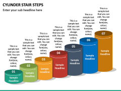 Cylinder Stair Steps PPT Slide 4