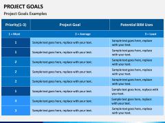 Project Goals PPT Slide 8