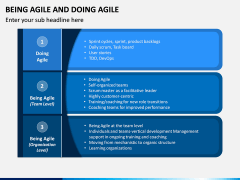 Being Agile and Doing Agile PPT Slide 1