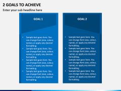 2 Goals to Achieve PPT Slide 1