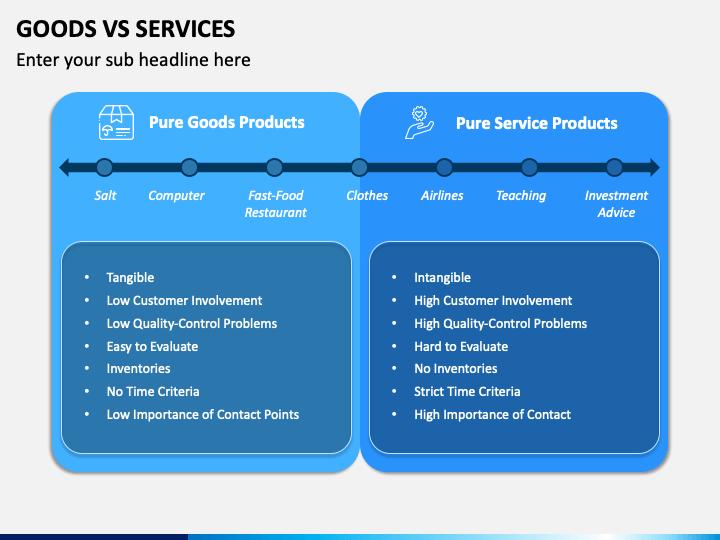 Goods Vs Services PPT Slide 1