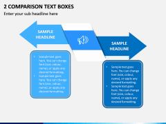 2 Comparison Text Boxes PPT Slide 1