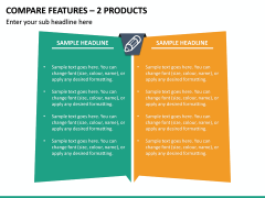 Compare Features - 2 Products PPT Slide 2