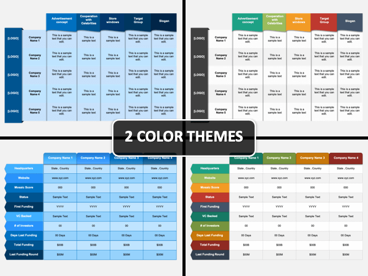 Company Profiles Comparison PPT Cover Slide