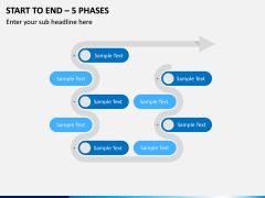 Start To End – 5 Phases PPT Slide 1