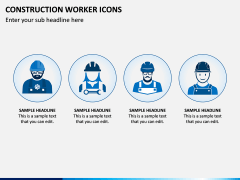 Construction Worker Icons PPT Slide 1