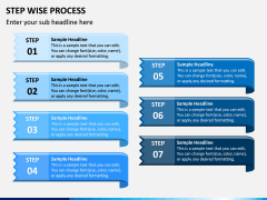 Step Wise Process PPT Slide 9