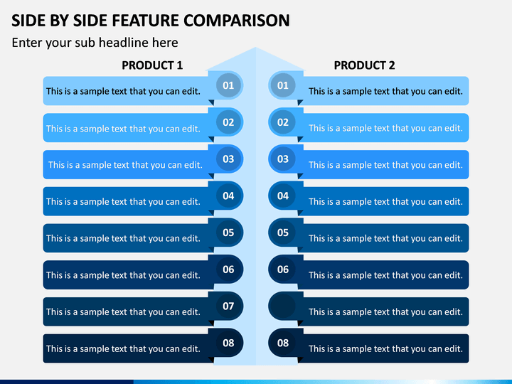 Side By Side Feature Comparison PPT Slide 1
