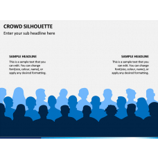 Crowd Silhouette PPT Slide 1
