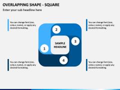 Overlapping Shape - Square PPT Slide 1