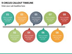 9 Circles Callout Timeline PPT Slide 2