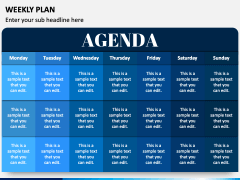 Weekly Plan PPT Slide 2