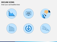 Decline Icons PPT Slide 2