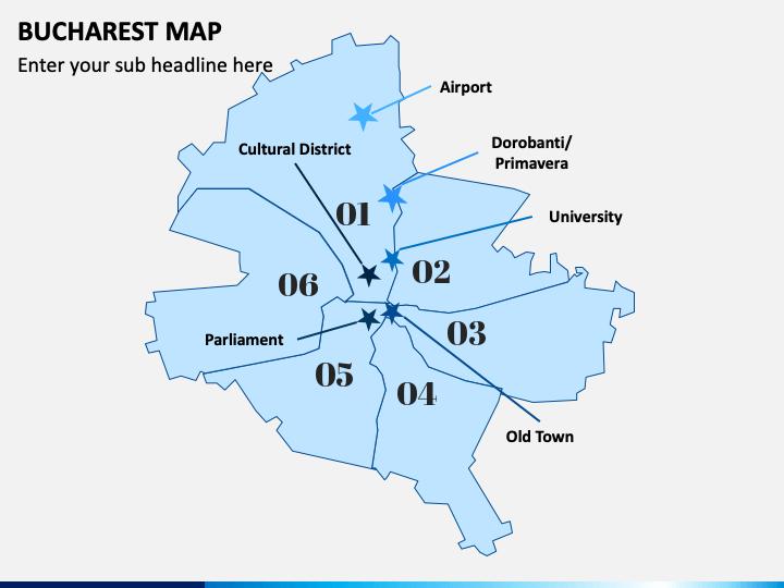 Bucharest Map PPT Slide 1