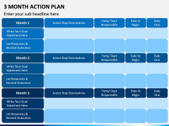 3 Month Action Plan PPT Slide 6