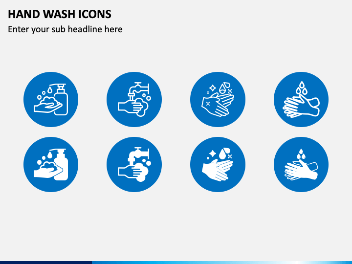 Hand Wash Icons PPT Slide 1