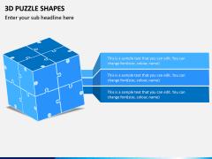 3D Puzzle Shapes PPT Slide 3