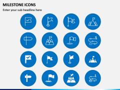 Milestone Icons PPT Slide 1