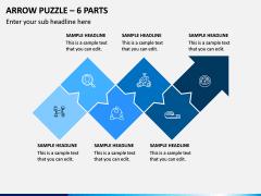 Arrow Puzzle – 6 Parts PPT Slide 1