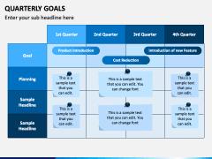 Quarterly Goals PPT Slide 1