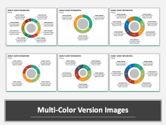 Donut Chart Infographic Multicolor Combined