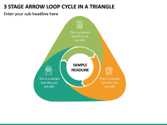 3 Stage Arrow Loop Cycle In A Triangle PPT Slide 2