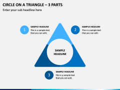 Circle on a Triangle – 3 Parts PPT Slide 1