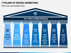 7 Pillars of Digital Marketing PPT Slide 1