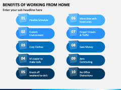 Benefits of Working From Home PPT Slide 1