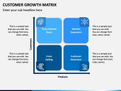 Customer Growth Matrix PPT Slide 1