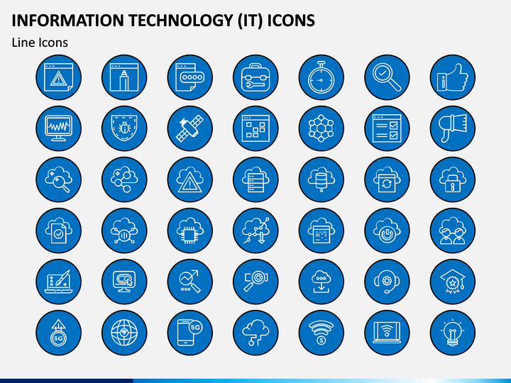 information technology  it  icons powerpoint template