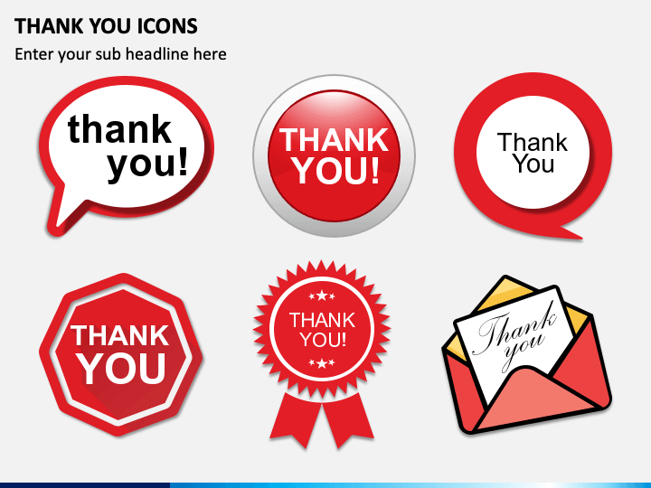 Thank You Icons PPT Slide 1