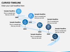 Curved Timeline PPT Slide 5