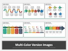 Arrow Timeline Multicolor Combined