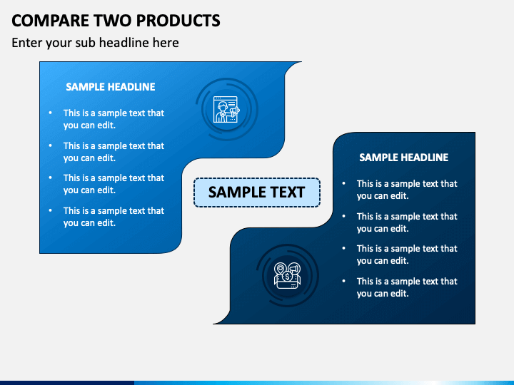 Compare Two Products - Free PPT Slide 1