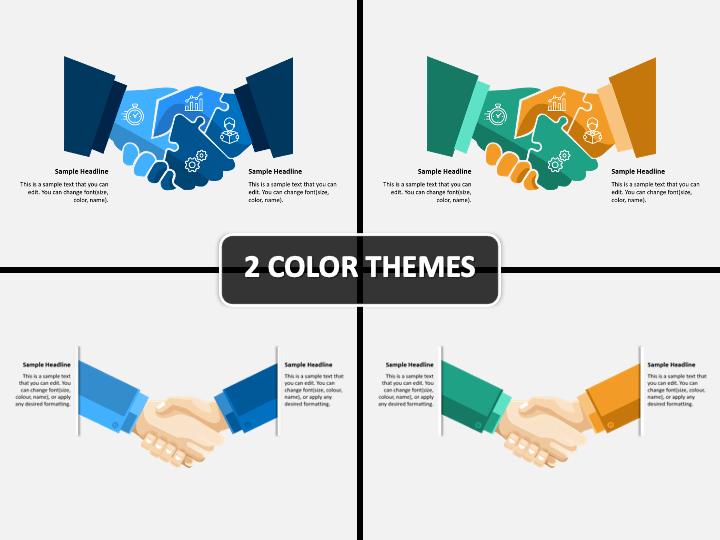 Handshake Infographic PPT Cover Slide