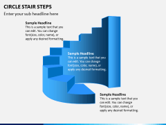 Circle Stair Steps PPT Slide 5