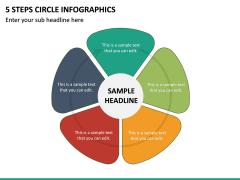 5 Steps Circle Infographics PPT Slide 2