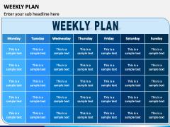 Weekly Plan PPT Slide 1
