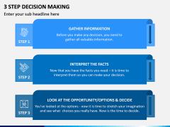 3 Step Decision Making PPT Slide 3