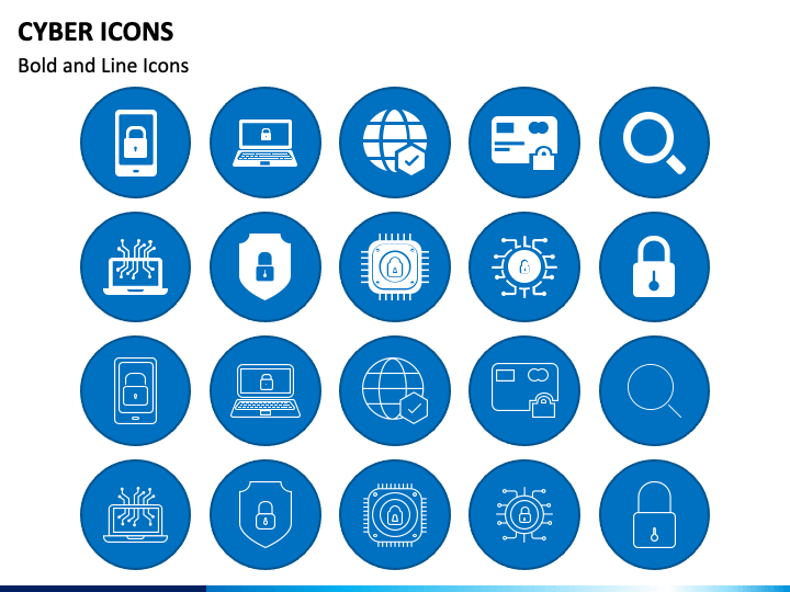 Cyber Icons PPT Slide 1
