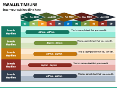 Parallel Timeline PPT Slide 6