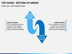 Top Down Bottom Up Arrow PPT Slide 2