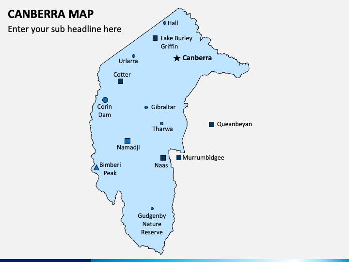 Canberra Map PPT Cover Slide 1