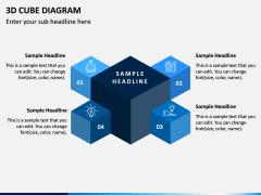 3D Cube Diagram PPT Slide 2