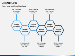 Linear Flow Infographics PPT Slide 8