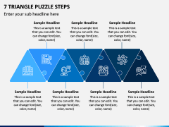 7 Triangle Puzzle Steps PPT Slide 1